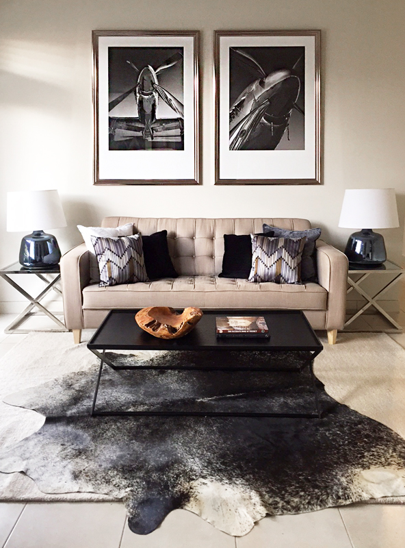 Masculine Lounge Room Styling