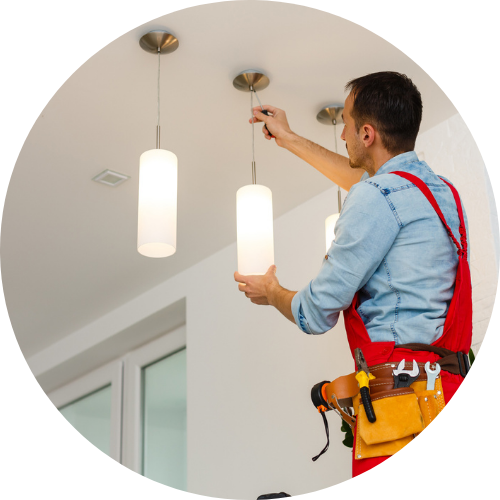 Updating light coverings - Electrician & Styling
